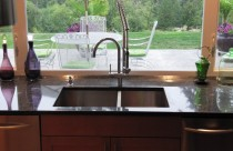 Arabian Black (Granite) Countertop with Undermount Sink. Edge- Double Ease