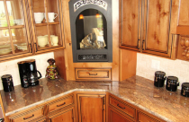 Crema Bordeaux (Granite) Countertop with half-bullnose edge