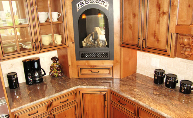 Crema Bordeaux (Granite) Countertop With Half Bullnose Edge